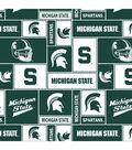 Michigan State University Spartans Fleece Fabric -Block