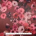 Casa Embellish Satin Fabric 57\u0027\u0027-Blackberry Wine Watercolor Floral
