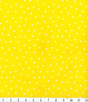 Keepsake Calico Cotton Fabric 44''-Polka Dots on Yellow, , hi-res