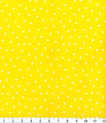 Keepsake Calico Cotton Fabric -Polka Dots on Yellow