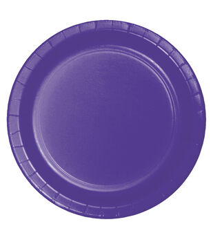 8ct Large Paper Plate-Purple