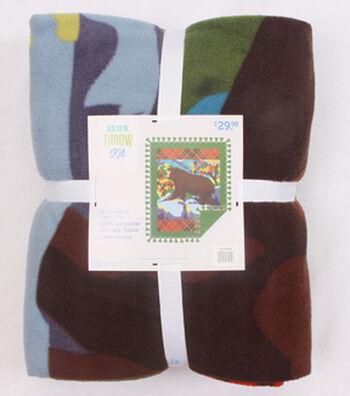 "No-Sew Throw Fleece Fabric 72""-Great Outdoors Bear Panel"
