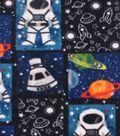 Anti-Pill Fleece Fabric -Space Patchwork