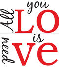 Wall Pops All You Need is Love Wall Quote Decals, 26.5\u0022 x 11\u0022