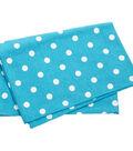 Dunroven House 20\u0027\u0027x28\u0027\u0027 Printed Tea Towel-White Polka Dot on Turquoise