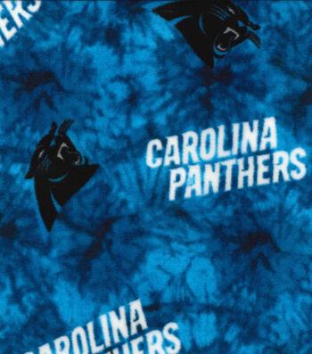 Carolina Panthers Fleece Fabric 58''-Tie Dye