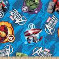 Marvel Comics Avengers Fleece Farbic -Avengers Assemble