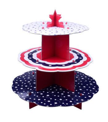 Land of the Free Baking Patriotic 3-tier Server-Stars
