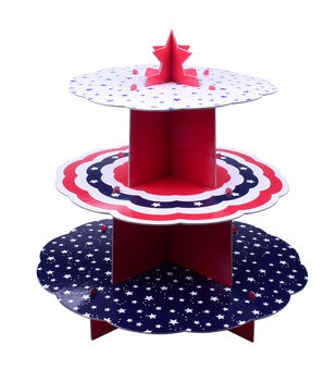 Land of the Free Baking Patriotic 3-tier Server-Stars