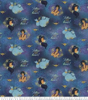 Disney's Aladdin Follow Your Heart Cotton Fabric