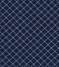 Christmas Cotton Fabric-Diamond Stripes on Blue