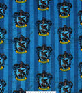 Harry Potter Fleece Fabric 58\u0027\u0027-Ravenclaw Crest on Stripes