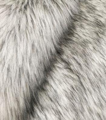 Fashion Faux Fox Fur Fabric -Silver