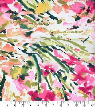 Fast Fashion Bubble Crepe Knit Fabric-Geranium Iris