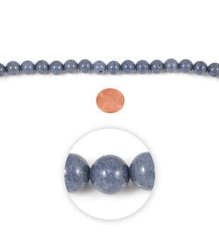 Blue Moon Strung Mountain Jade Beads,Round,Grey