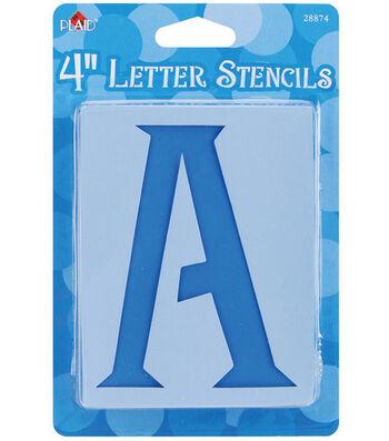Plaid 43 pk 4'' Stencils-Genie Letter