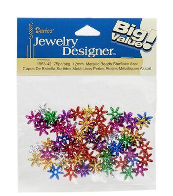 Darice Jewelry Designer Starflake Metallic Beads