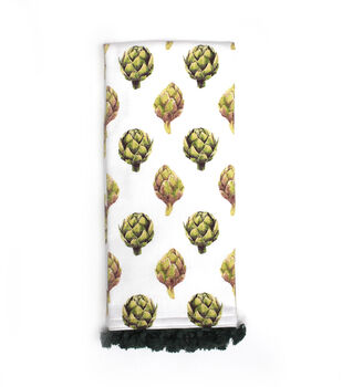 Simply Autumn 16''x26'' Towel with Trim-Artichokes