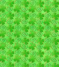 St. Patrick\u0027s Day Cotton Fabric -Tossed Shamrocks Glitter