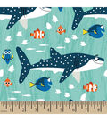 Disney Finding Dory Cotton Fabric -Shark and Nemo