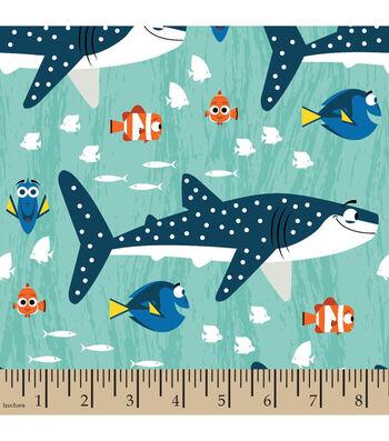 "Disney Finding Dory Cotton Fabric 43""-Shark and Nemo"