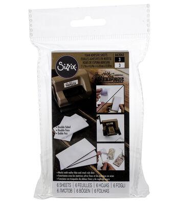 "Tim Holtz Adhesive Foam Sheets 2.5""X4.75"" 6/Pkg-3 White & 3 Black"