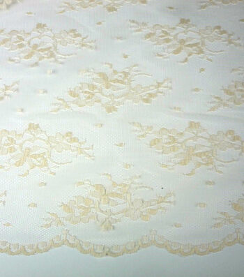 "Casa Collection Lace Fabric 54""-Chantilly Eggnog"