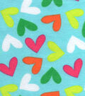 Snuggle Flannel Fabric -Palm Beach Hearts