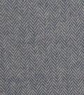 Plaiditudes Brushed Cotton Apparel Fabric 44\u0027\u0027-Navy & White Herringbone