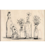 Inkadinkado Rubber Stamp-Bottle Row, , hi-res