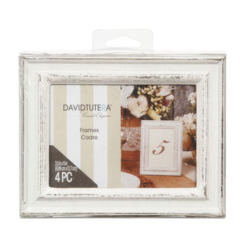 3.5'' x 5'' Whitewash Frames - Pack of 4