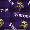 Minnesota Vikings Fleece Fabric -Buffalo Plaid