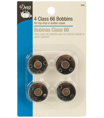 Dritz Metal Class 66 Bobbins 4/Pk