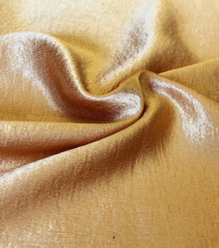 Casa Collection Crushed Satin Fabric 54''-Gold