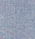 Plaiditudes Brushed Cotton Fabric -Light Blue Flocked Herringbone
