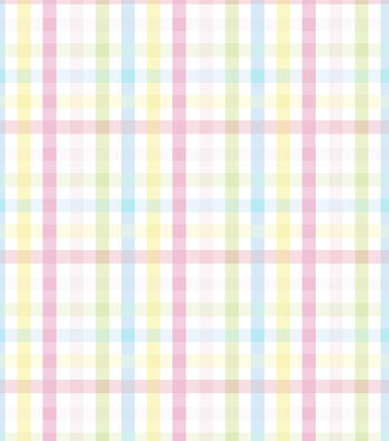 Nursery Flannel Fabric-Bunny Gingham