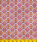 DS Quilt Collection Cotton Fabric-Piccadily Medallion Pink