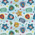 Paw Patrol Cotton Fabric-Pups in Action