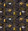 University of Iowa Hawkeyes Fleece Fabric -Digital