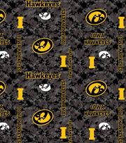 "University of Iowa Hawkeyes Fleece Fabric 43""-Digital, , hi-res"