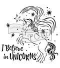 The Crafter\u0027s Workshop Carmen Medlin Stencil-I Believe in Unicorns