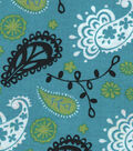 Quilter\u0027s Showcase Fabric 43\u0027\u0027-Black Paisley on Capri Breeze