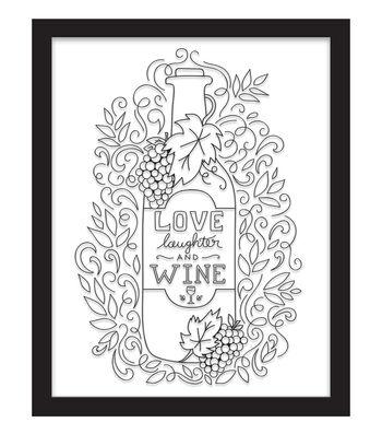 11x14 Color In Love, Laughter, Wine Float Frame-Black