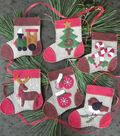 Warm Feet 6 pk Wool Felt Ornaments