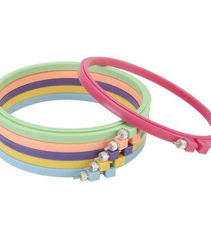 Susan Bates Hoop-La Plastic Embroidery Hoops