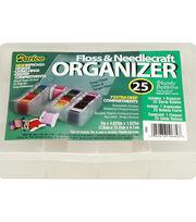 Darice 7 Extra Deep Compartments Floss Caddy with Paper Bobbins, , hi-res