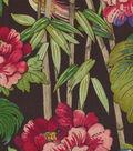 Waverly Upholstery Fabric 54\u0022-Peace Garden Onyx