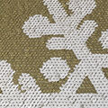 Reversible Sequin Fabric-Gold & White Snowflake