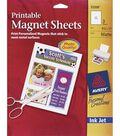Ink Jet 8-1/2\u0022X11\u0022 Printable Magnet Sheets-Matte White