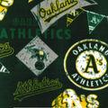 Oakland Athletics Fleece Fabric-Vintage